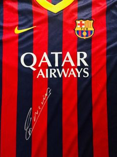 Andres Iniesta #6 /  Fc Barcelona - Signed Home Jersey -  with Certificate of Authenticity PSA / DNA