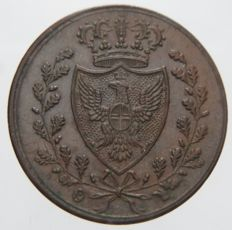 Kingdom of Sardinia - 1 Centesimo coin, 1826 - P Turin, Carlo Felice