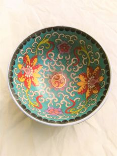 Chinese Handmade Porcelain Cloisonne Enamel Bowl - China - mid 20th century