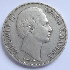 Old Germany, Bavaria - a club thaler 1866 - silver