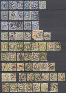 Switzerland 1878/1938 - Lot of tax stamps