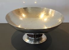 Art Deco - large fruit silver plated metal bowl - Hallmarked  silversmith Rex