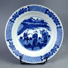 Blue & White porcelain plate - China - 19th century