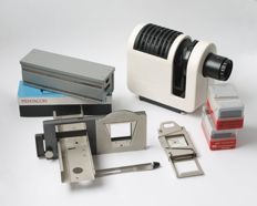 "Slide projector ""Pentacon H50"" with magazine and accessories approx. 1984"