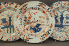 Imari plates - China - around 1750