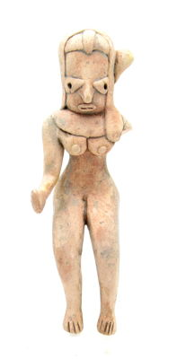 Indus Valley Terracotta Seated Female Fertility Idol  / Figurine  - 117 mm