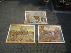Three school posters by J.H. Isings in excellent condition