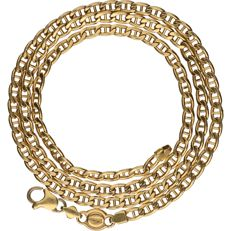 18 kt - Yellow gold curb link necklace - Length: 51.5 cm