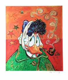 Fernandez, Tony - Large Format Digital Print - Donald Duck inspired by Van Gogh's Ear