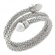 "Chimento - ""Stretch"" silver, double stretch bracelet - wrist size 18 cm"