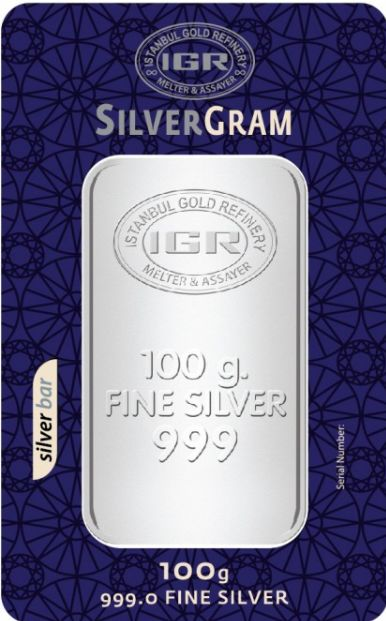 IGR- 100 gr. - 999/1000 - Minted/ Sealed