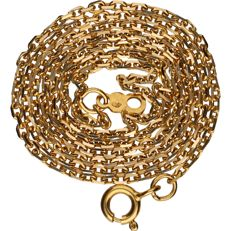 18 kt - Yellow gold anchor chain necklace - Length: 50 cm