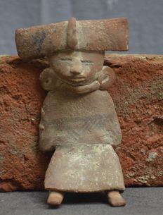 Pre-Columbian very rare figurine/idol - 12.4 cm