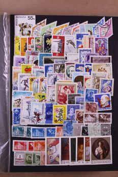 Romania circa 1900/1980 - Batch of approx. 8250 stamps in 4 stock books