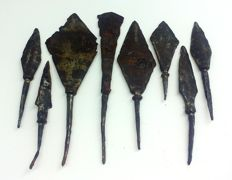 Early medieval arrowheads, the Viking period 65-115 mm