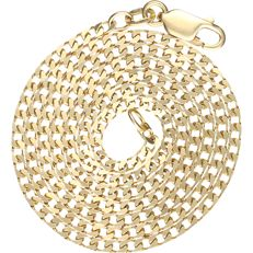 18 kt - Yellow gold curb link necklace - length: 50.5 cm