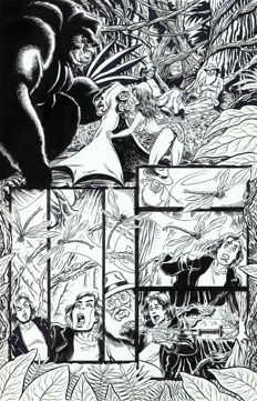 Original Art Page By Rob Durham - Amryl - Cavewoman: Red Menace - Page 3 - (2009)