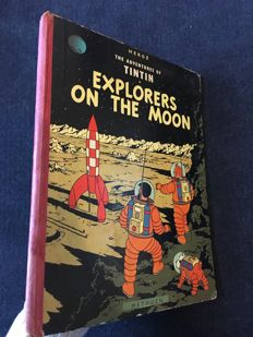 Tintin 17 - Explorers on the Moon - hc - 1st Edition (1959)