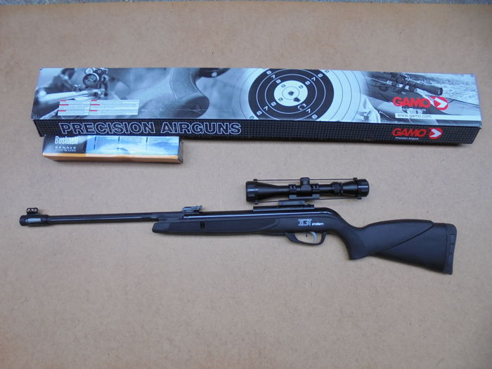 Air rifle Gamo Black 1000 AS - IGT with calibre  22 or 5 5 mm with scope  3-9x40 and sturdy mount  - Catawiki