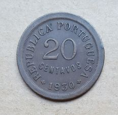 Cabo Verde - Portuguese Republic – 20 Centavos 1930 . Above Average