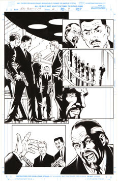 Original Art Page By Rod Whigham - Marvel Comics - Men In Black : Alien In New York #2 - Page 4 - (1997)
