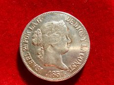Spain - Isabel II (1833 - 1868), 10 real silver coin - 1867 - Madrid