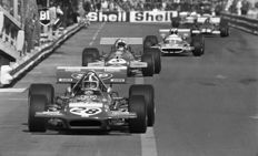2 x 1970 Monaco Grand Prix Rindt Amon and Brabham   Photographs 54cm x44cm