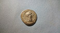 Roman Empire - Domitian as Augustus (81-96 AD). Silver Denarius, Rome.