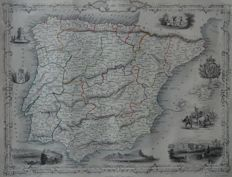 Spanje, Portugal; Winkles / Rapkin / Tallis- Spain and Portugal - ca. 1860