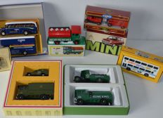 Corgi - Scale 1/43-150 - Lot with 11 models: Mini Rover, Metro Bus, Royal Mail Collection, Greene King Fine Ales, Morris Minor Van en AEC Cabover Van, Forward control 5ton Cabover