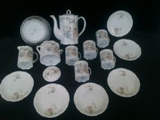 Coffee tableware porcelain  - Versailles - 1910 - 16 pieces