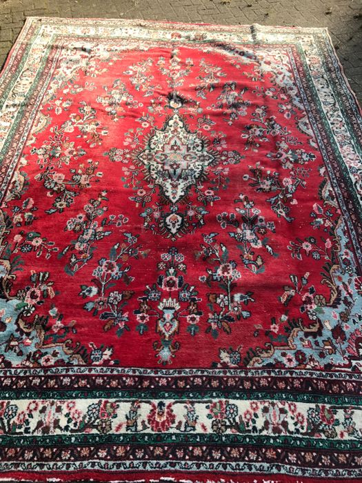 Magnificent XXL Persian Hamadan carpet - 273 x 356