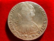 Spain - Carlos IV (1788-1808) - 8 sillver reales - 1797 - Lima IJ