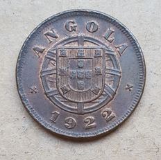 Angola / Portuguese Republic – 5 Centavos 1922 . Above Average
