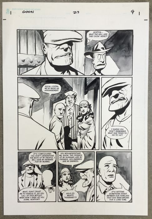 Eric Powell - Original Art Page - Pen, Ink And Inkwash - Dark Horse Comics - The Goon #23 - Page 9 - (2008)