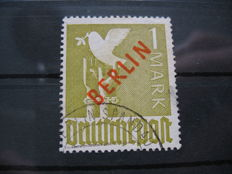 Berlin 1949 - 1 mark red overprint Michel 33