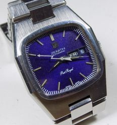 Zenith Port Royal - Lilac Shadow Pattern Dial - 1970's - Men's Wristwatch