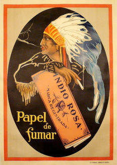 Anonymous - Indio Rosa smoking paper - 1930s