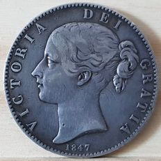 United Kingdom - Crown 1847 Victoria - prata