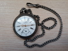 Antique silver pocket watch UTI Grand Prix London 1908
