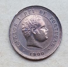 Portugal -- 5 Réis 1900 -- D. Carlos I -- Scarce . Above Average