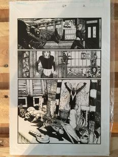 Original Art Page By Brian Haberlin - Image Comics - Spawn #169 - 2 page - (2007) + Comic Book Gratis