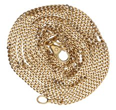 14 kt – Yellow gold, curb link necklace – length: 60.5 cm
