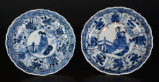 Set of blue and white dish with long Eliza - China - approx. 1730 (Yongzheng period)