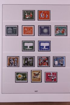 Federal Republic of Germany 1957/2000 - On 1 set collection in 4 Lindner Falzlos T-type preprint albums
