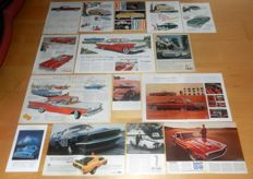 Lot of 22 old original Ford Mercury Lincoln ads