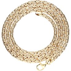 18 kt - Yellow gold link necklace - length: 44 cm