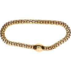 18 kt yellow gold popcorn link bracelet with magnetic clasp – Length:  21 cm