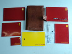 Leather document holder + various Ferrari 550 Maranello manuals