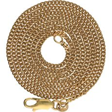 18 kt - Yellow gold curb link necklace - Length: 61.5 cm